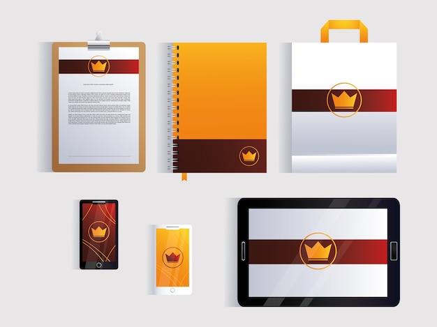 Corporate identity branding design in white background illustration