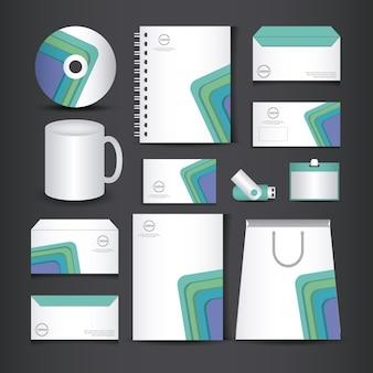 Corporate identity branding template