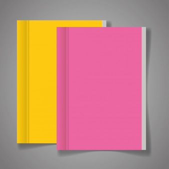 Corporate identity branding, with books of cover pink and yellow color