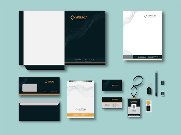 Corporate identity or business branding kits