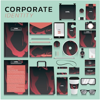 Corporate identity for business and marketing design
