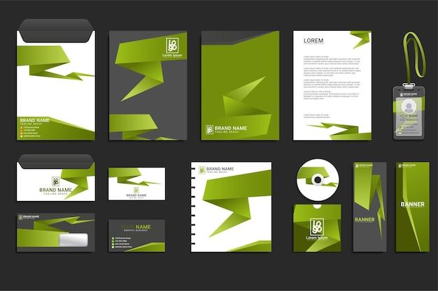 기업의 정체성 비즈니스 세트 디자인