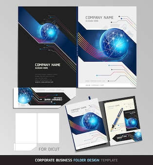 Corporate identity business set. folder  template.