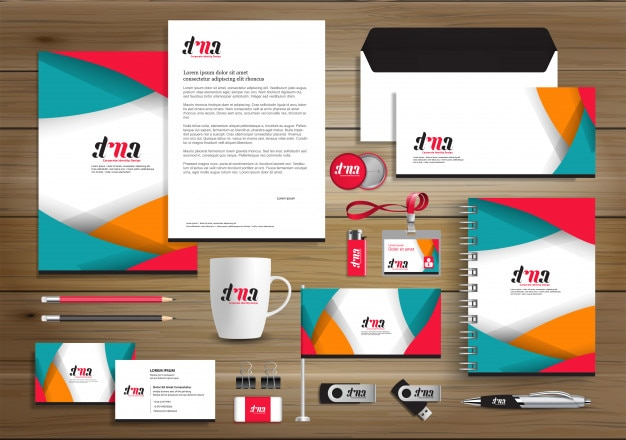 Corporate identity business  template design vector abstract