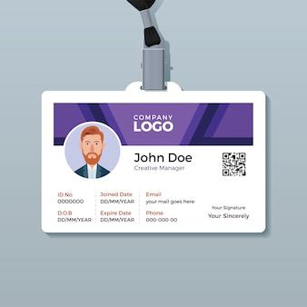 Corporate identity card design template