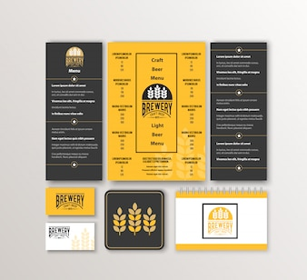 Corporate identity. Classic stationery template design. Documentation for business.