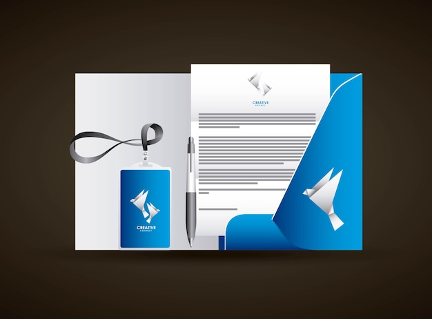 Corporate identity creative agency branding business stationery