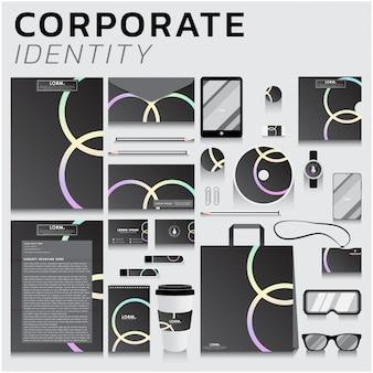 ビジネスおよびマーケティングデザインのコーポレートアイデンティティ