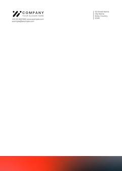 ハイテク企業のコーポレートアイデンティティレターヘッドテンプレートベクトル