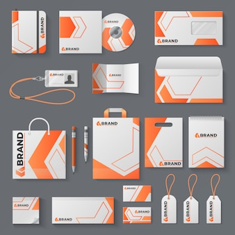 Corporate identity . office stationery branding business card letter envelope mug brand brochure cover. identity