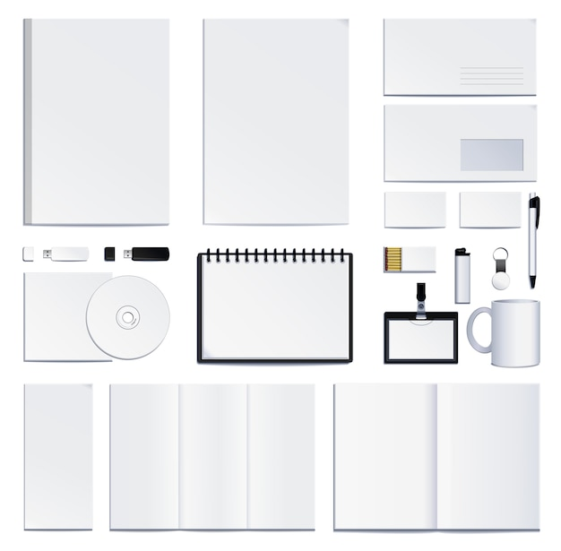 Презентация фирменного стиля. иллюстрация на белом фоне.