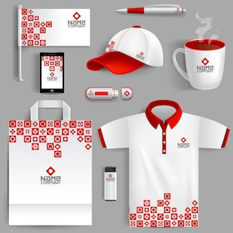 Corporate identity red