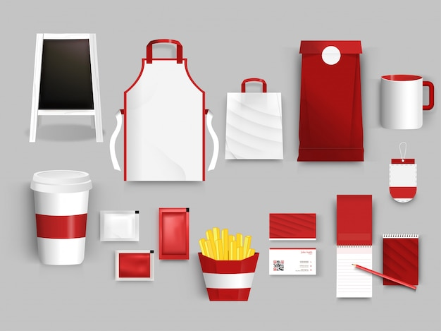 Corporate identity set for cafe
