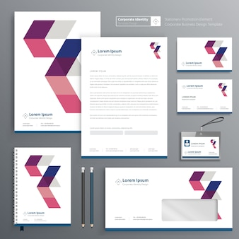 Corporate identity for stationery