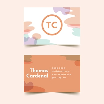 Corporate identity template for company in pastel-coloured stains