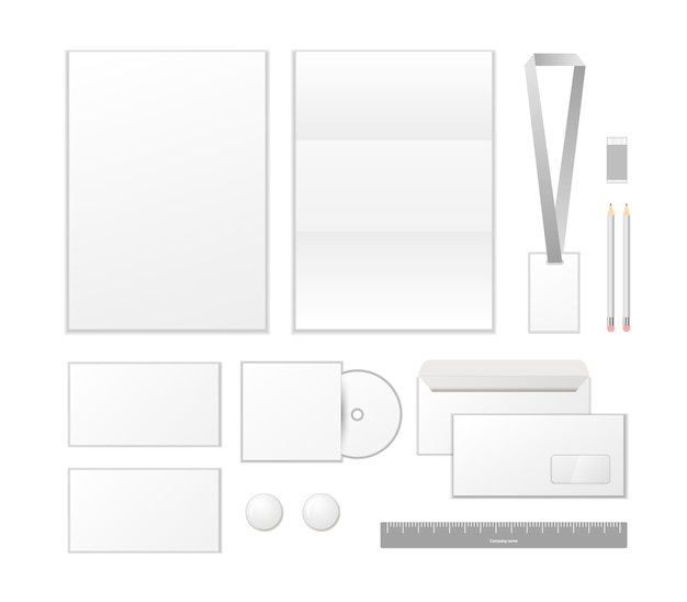 Corporate identity template design. business set stationery isolated