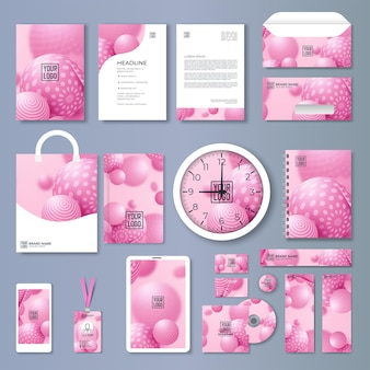 Corporate identity template set. branding design. blank template. business stationery mock-up with logo. large collection.
