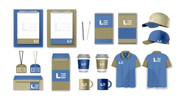 Corporate identity template set branding design business stationery mockups