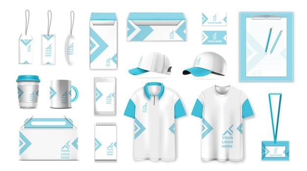기업의 정체성 템플릿 세트 브랜딩 디자인 비즈니스 문구 모형