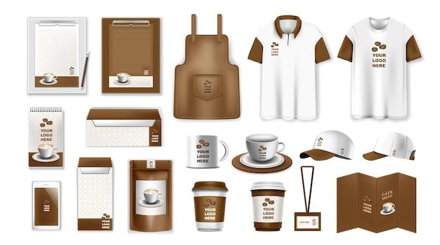 Набор шаблонов фирменного стиля брендовый дизайн макеты канцелярских товаров для бизнеса