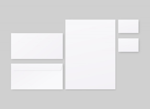 Corporate identity template set. business stationery  with envelope, paper, business cards.   . template . realistic  illustration.