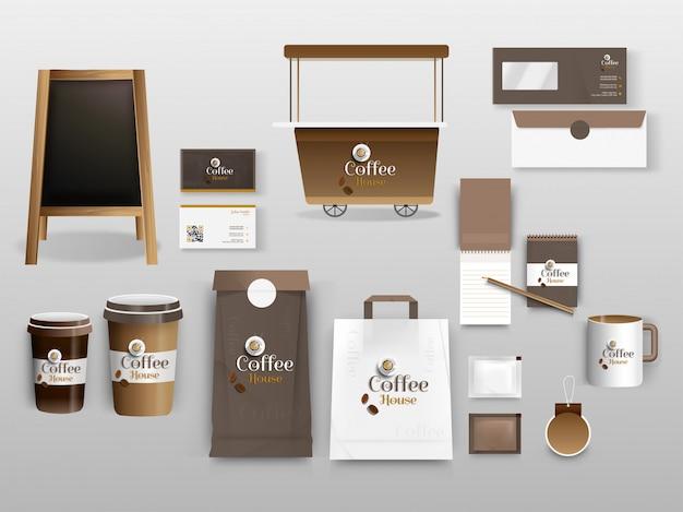 Corporate identity template with illustration of wheelbarrow