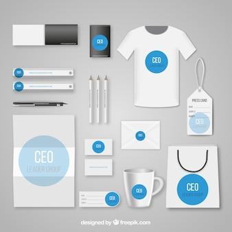 Corporate identity template Premium Vector