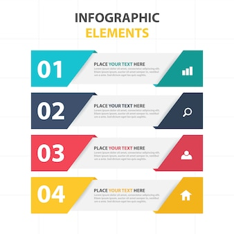 Corporate infographic banner elements