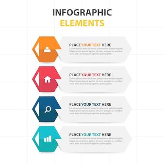 배너 스타일의 기업 infographic 요소