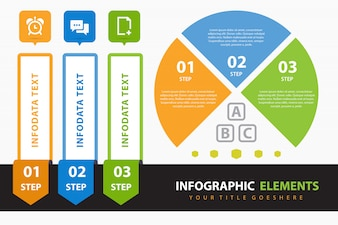 Corporate infographic with elements