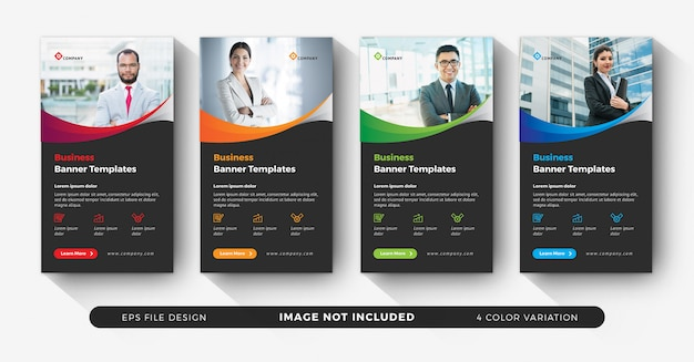 Corporate instagram stories for business advertising with color variation