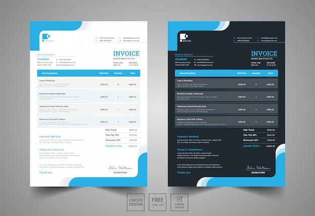 Corporate invoice design tempalte