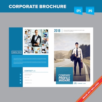 Corporate jobs and employment company  brochure template
