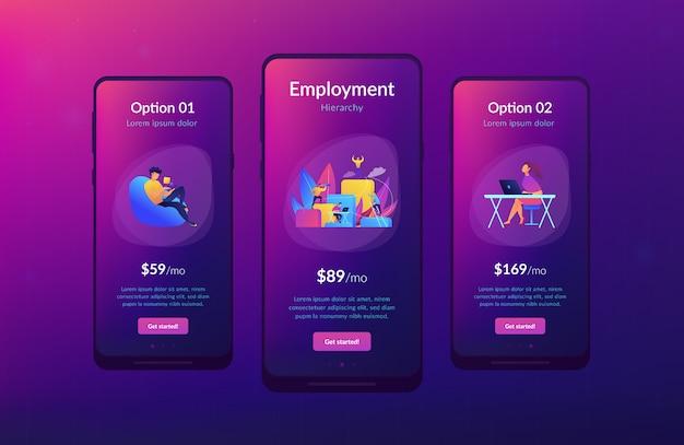 Corporate ladder app interface template
