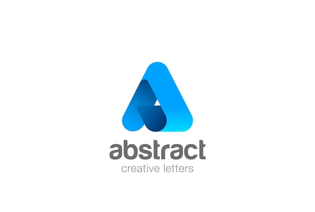 Corporate letter a logo icon.
