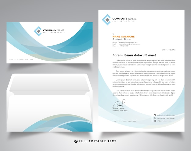 Corporate letterhead and envelope mockup