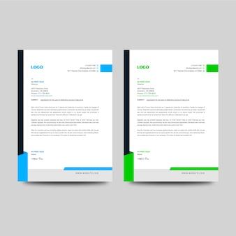 Corporate letterheader template