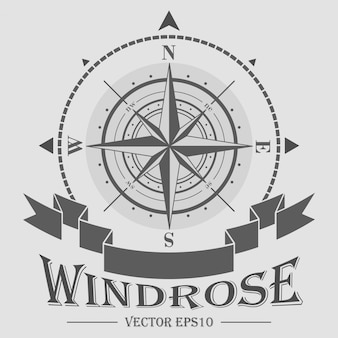 Corporate logo with windrose