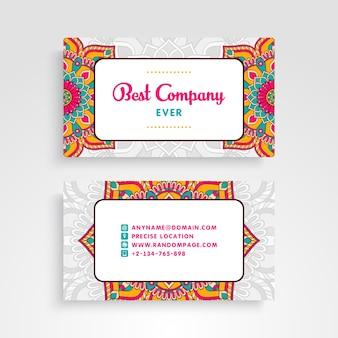 Corporate mandala style business card