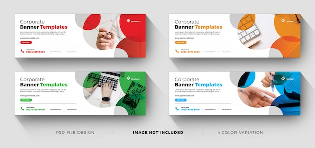 Corporate minimal business banner or facebook cover templates