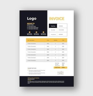 Corporate minimal business invoice design
