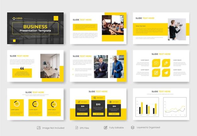 企業の最小限のビジネスパワーポイントのプレゼンテーションスライド