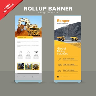 Corporate Mining Company Rollup Banner Template