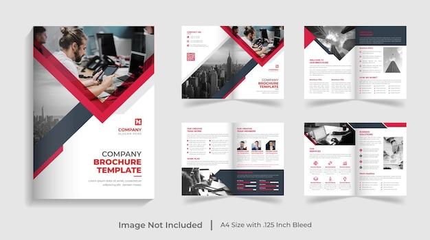 Corporate modern bifold multipage brochure template company profile annual report design