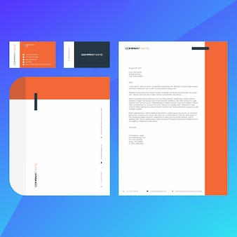 Corporate modern business card, letterhead and envelop template