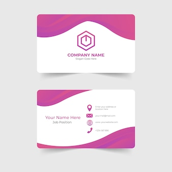 Corporate modern business card template design