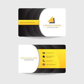 Corporate modern business card template design