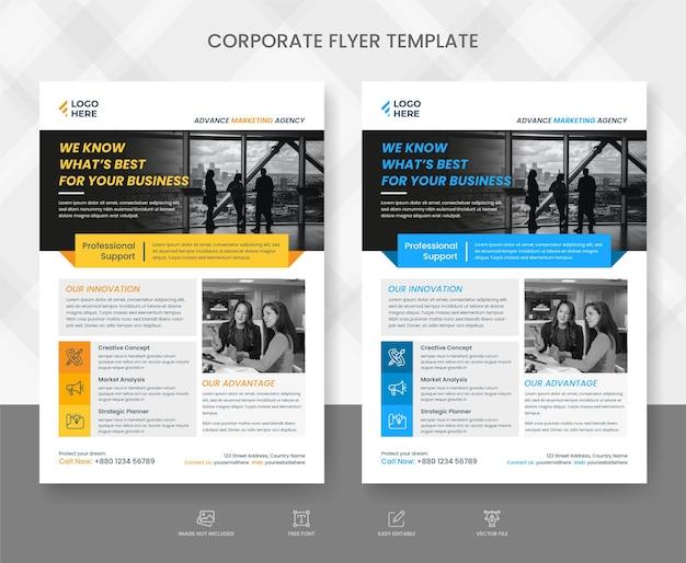 Corporate modern business flyer template