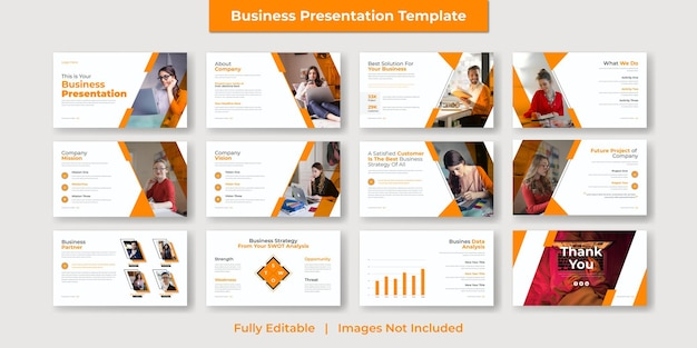 Corporate and modern business powerpoint presentation and google slide template design