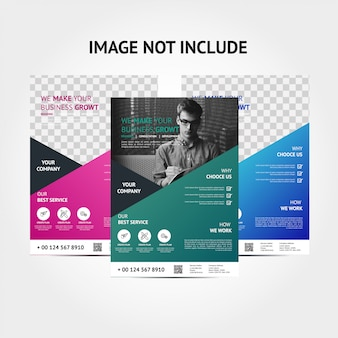 Corporate modern color flyer background template